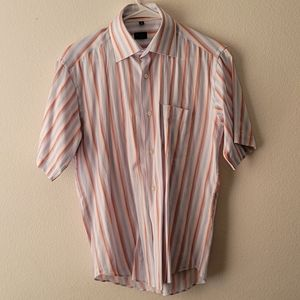 Paul Smith Blue Stripe  Short Sleeve Size 15.5